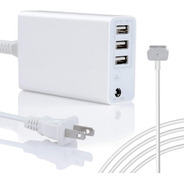 Cargador Magsafe2 60w Para Macbook Y Macbookpro +3 Usb Carga