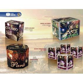 Torta Paris 10 Tiros - Fuegos Artificiales - Fuegolandia