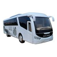 Miniatura Ônibus Santos Fc Time De Futebol - Em Metal 18cm