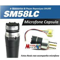 Capsula Semi Completa Microfone Shur E Sm58 C Fio Id1983
