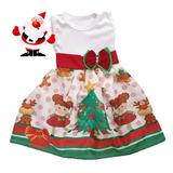 Vestido Infantil Festa Natal - Mamae Noel Roupa/fantasia