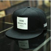 Boné Aba Reta Masculino Cor Preto Brooklyn Hip Hop