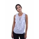 Camisa Blanca Guayabita Magdalena Para Damas