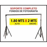 Pie Soporte Fondo Fotografia Sistema Completo (1.80 X 2 Mts)