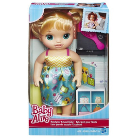Boneca Baby Alive Escolinha Loira Original Hasbro