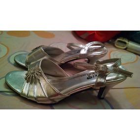 54d697cc1c Zapatos Plateados Brillantes Tacon Bajo - Zapatos Mujer en Zulia en ...