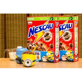 2 Kit - Minions - Porta Cereal - Nescau - Dia Das Crianças