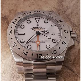 Reloj Rolex Explorer Ii Acero Automatic Cara Blanca