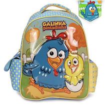 Mochila Infantil Xeryus Galinha Pintadinha Party - Azul