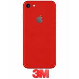Adesivo Skin Traseira Vermelho Red Iphone 7 E 7 Plus Da 3m