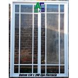 Puerta Ventana Balcon Aluminio Repartido Florencia 150x200