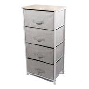 Mueble De Metal Blanco C/ 4 Canastos D+m Bazar
