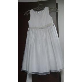 Hermoso Vestido Blanco De Gala American Princess T 6 Años
