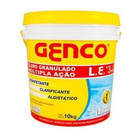 Genco L.e Cloro Granulado Ação 3em1 10kg Genco