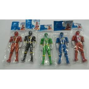 Kit Bonecos Power Rangers Com 10 Peças Tamanho Aprox 12 Cm