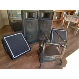 Aparelhagem De Som - Caixa, Monitor, Amplif E Cabeamento