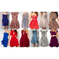 Lote De 10 Vestidos Nuevos Cortos De Fiesta Para Dama