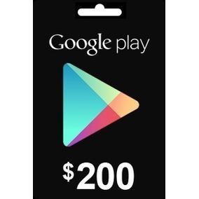 Tarjeta De Regalo Google Play Gift Card 200 Pesos