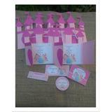 10 Invitaciónes Infantiles Princesas Castillo Original