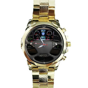 8d9bd8ee945 Relógio Painel Scania Personalizado Caminhão Onibus Dourado