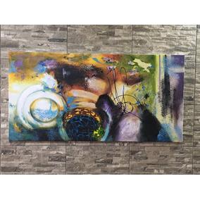 Pintura Al Oleo Abstracta Tipo Modernista