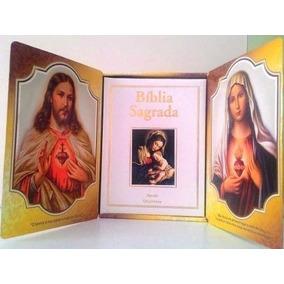 Bíblia Sagrada Católica Luxo C/ Caixa Oratório Frete Grátis