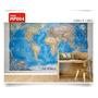 Adesivo Parede Decorativo Mapas Mundi Brasil Gigante Mp004