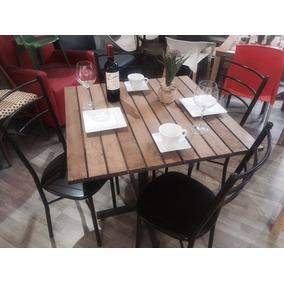 Mesa Con 4 Sillas Restaurantes, Cafeterías Y Bares