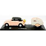 Miniatura Volkswagen Fusca +trailer(mini Camper) Rosa