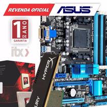 Kit Fx-8320e 3.5ghz + Asus M5a78l-m/usb3 + 8gb + 2 Jogos