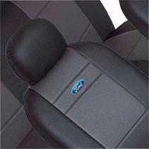 Capas Couro Courvin/tecido Ford Fiesta Focus Ka Escort Logo
