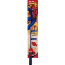 Caña De Pescar Con Carrete Para Niños Spiderman