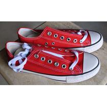 Kp3 Zapatos Converse All Star Rojos Damas Caballeros 35-45