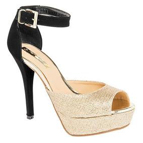 Zapatillas Damita Oro-negro Para Dama Originales 71184