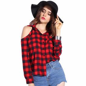 Moda Japonesa Blusa Camiseta A Cuadros Moda Asiatica 70