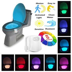 Frete R$13 Sensor Luz Led 8 Cores Vaso Sanitário Lightbowl