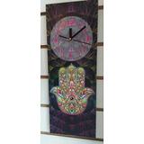 Reloj De Pared Moderno-om,mandala,flor Loto Diseño Exclusivo