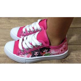 Tênis Infantil Fashion Pink Fashion Glitter Monster High