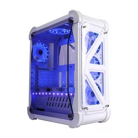 Gabinete Gamer Xtrike Gaming Blizzard G7 Branco E Azul