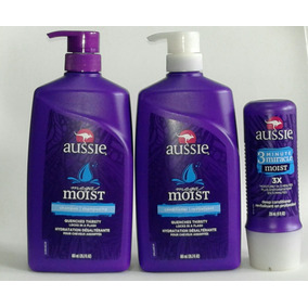 Kit Aussie Moist Shampoo Cond 865ml 3 Minute Miracle 236ml