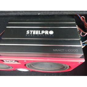 Amplificador Steelpro 1000.1 Clase D Y Par De Woofers Mtx