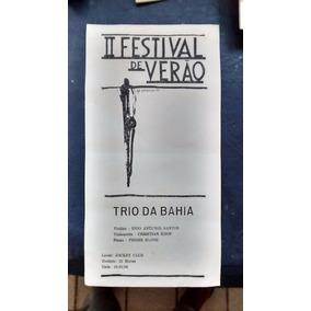 Folder Ii Festival De Verão De Uberaba/ba 1988