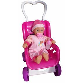 Muñeca Para Niñas Lovely Baby Doll Con Coche
