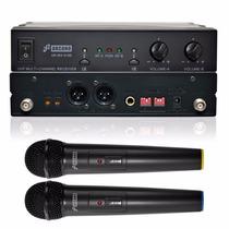 Sjf Arcano Microfone Sem Fio Duplo Uhf 16 Canais Arwx2165