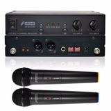 Fg Arcano Microfone Sem Fio Duplo Uhf 16 Canais Arwx2165