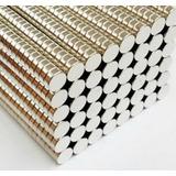 Imanes Neodimio Paquete De 100 Unidades De 5x2 Mm Cilindro