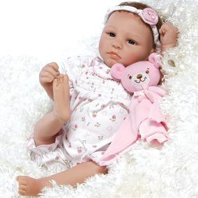 Reborn Bebé Elizabeth Realista Silicón Suave 45cm Mameluco