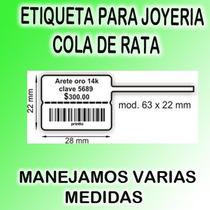 Etiqueta Para Joyeria Cola De Rata