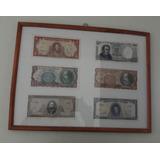 Billetes Chilenos Antiguos Enmarcados.