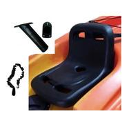 Combo Asiento Rígido Universal Kayak + Pita Remo + Posa Caña